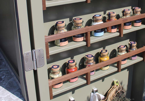 The Cubic Pantry storage doors.