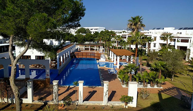 Swimming pool at Residencia Cala Dorada, Cala d'Or, Mallorca