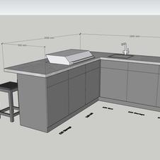 Corner kitchen/Breakfast Bar