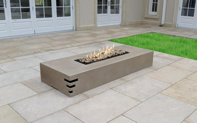 Dakota 2200 concrete firepit - Concrete Latte