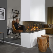 Central gas fireplace