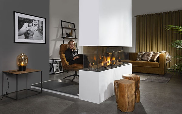 Urban Fires central balanced flue gas fireplace