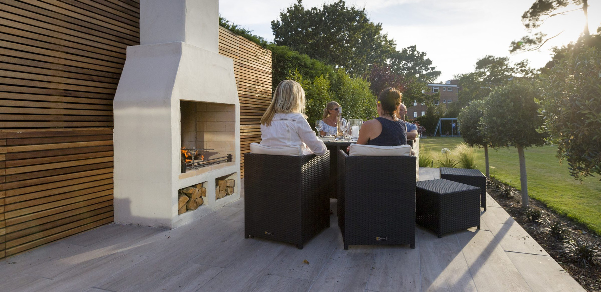 Schiedel woodburning Garden Fireplaces