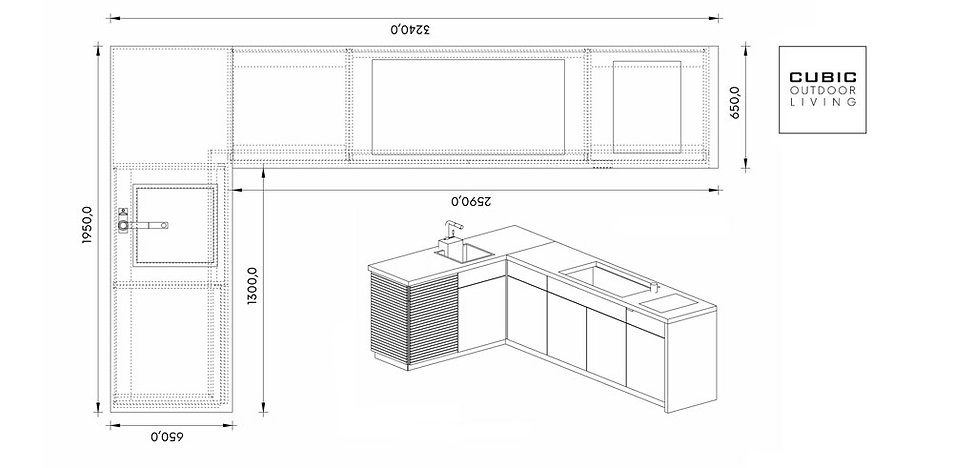 Plan your Cubic outdoor kitchen
