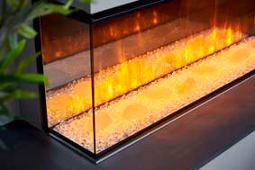 Minimalist Crystalight fuel bed - orange