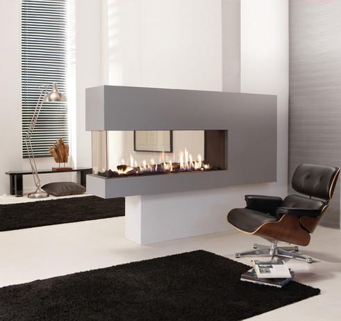 UF1000 room divider fireplace