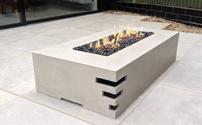 Dakota1400 concrete fire pit - Concrete Ash Grey