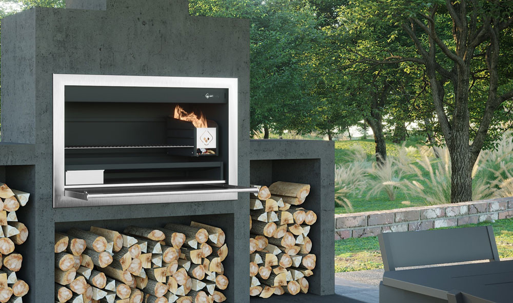 Urban Fires UF1200B outdoor woodburning cooking fireplace
