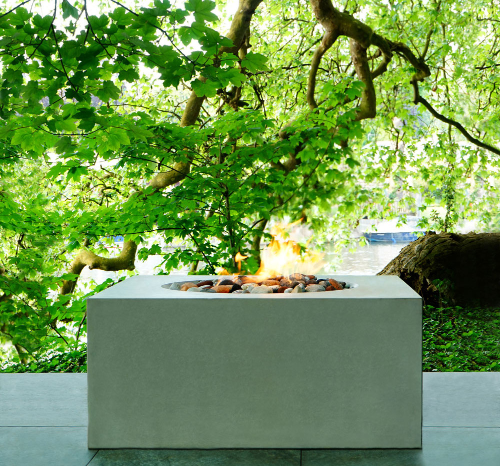 Cody polished concrete fire pit