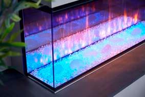 Minimalist Crystalight fuel bed - blue