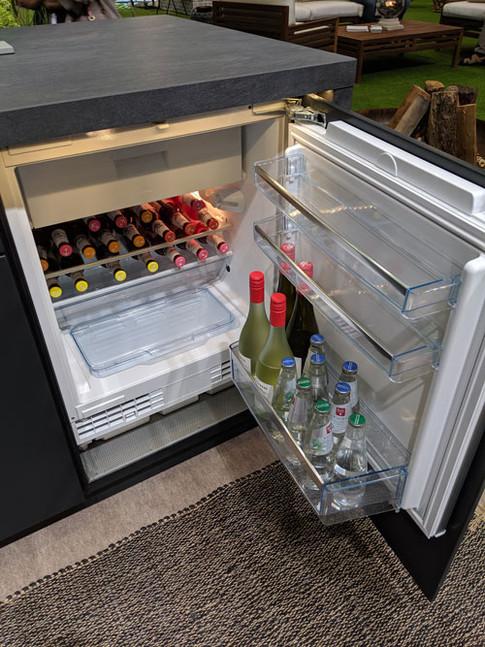 Store wine & beer in proper fridge with icemaker.