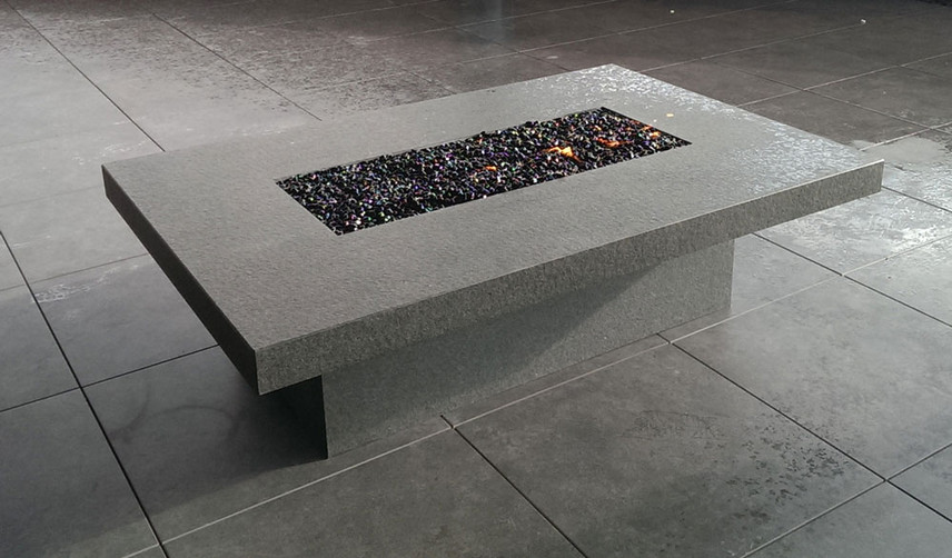 Textured Granite Fire Table