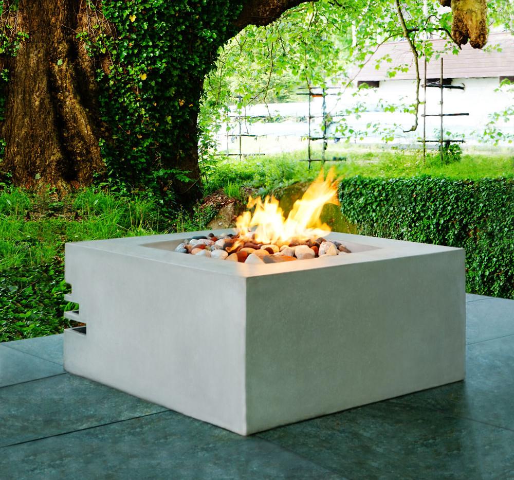 Benno concrete firepit - concrete Ash Grey