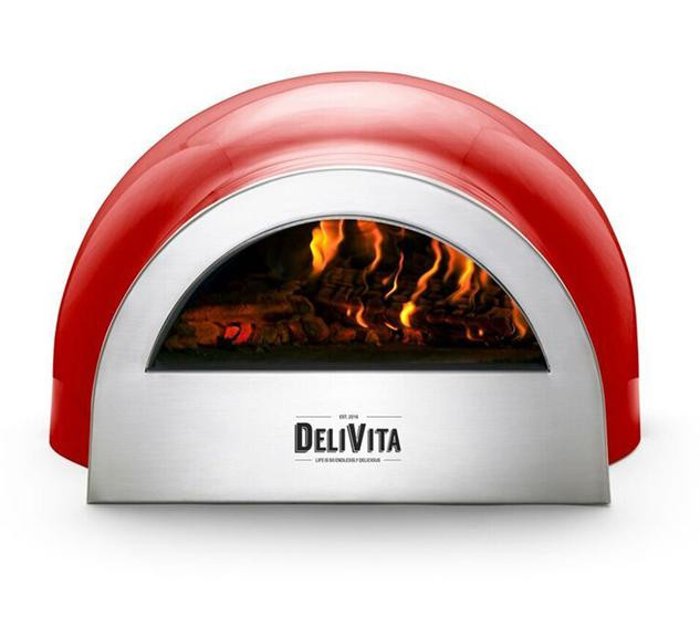 Red pizza oven