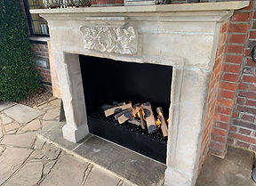 Manor House outdoor fireplace
