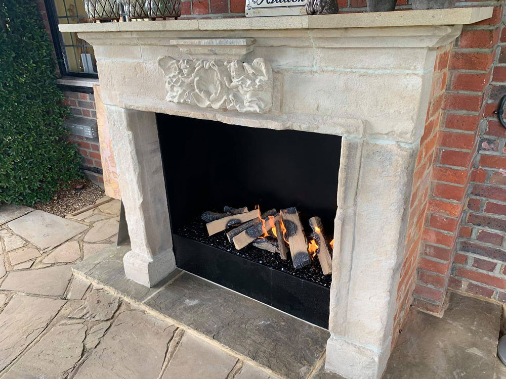 Manor House Compton outside fireplace