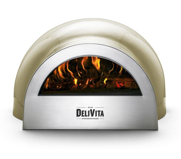 Olive green pizza oven