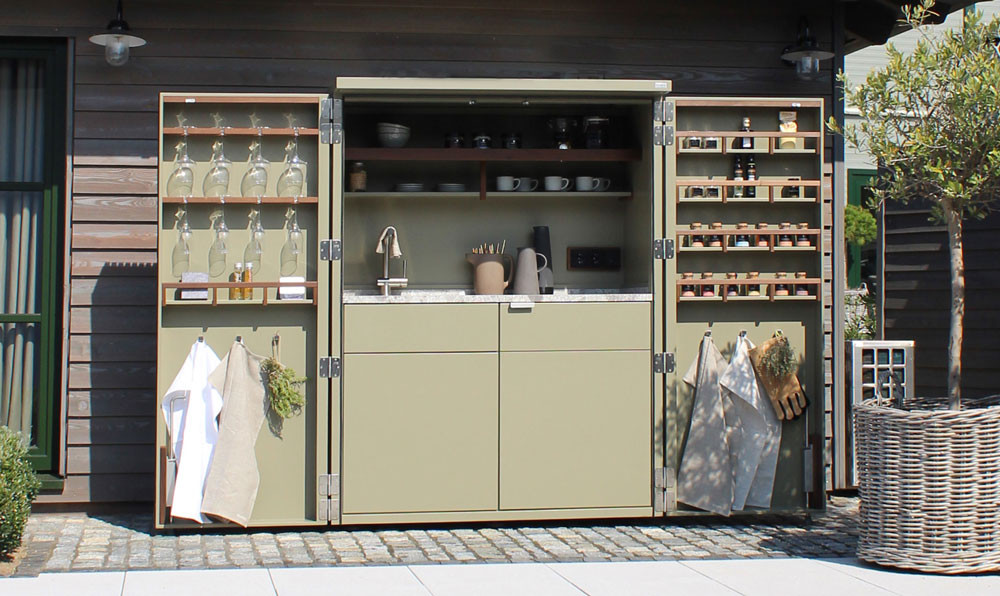Cubic outdoor Pantry storage options