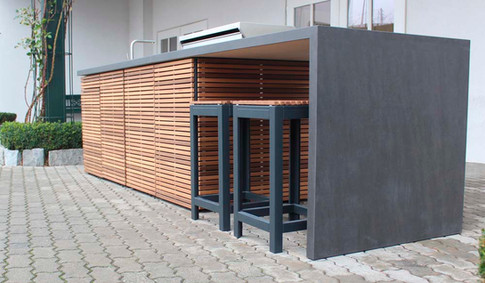 Add a breakfast unit to your perfect outdoor kitchen island