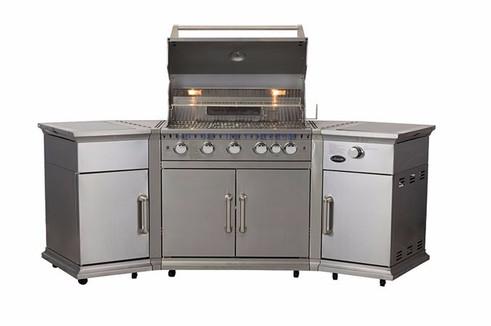 Stainless steel BBQ kitchen