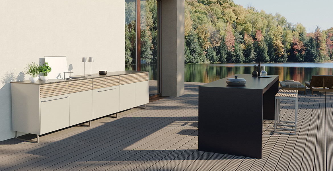 Cubic C2 kitchen style with island 'Kitchen in a Table'