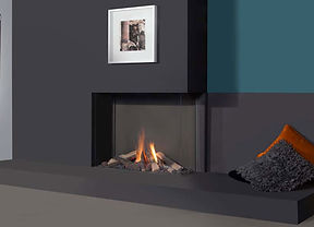 Urban Fires corner gas fireplace
