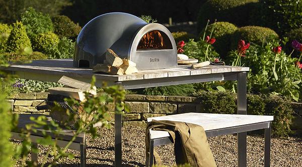 Woodburning pizza oven