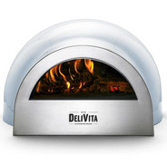 Blue pizza oven