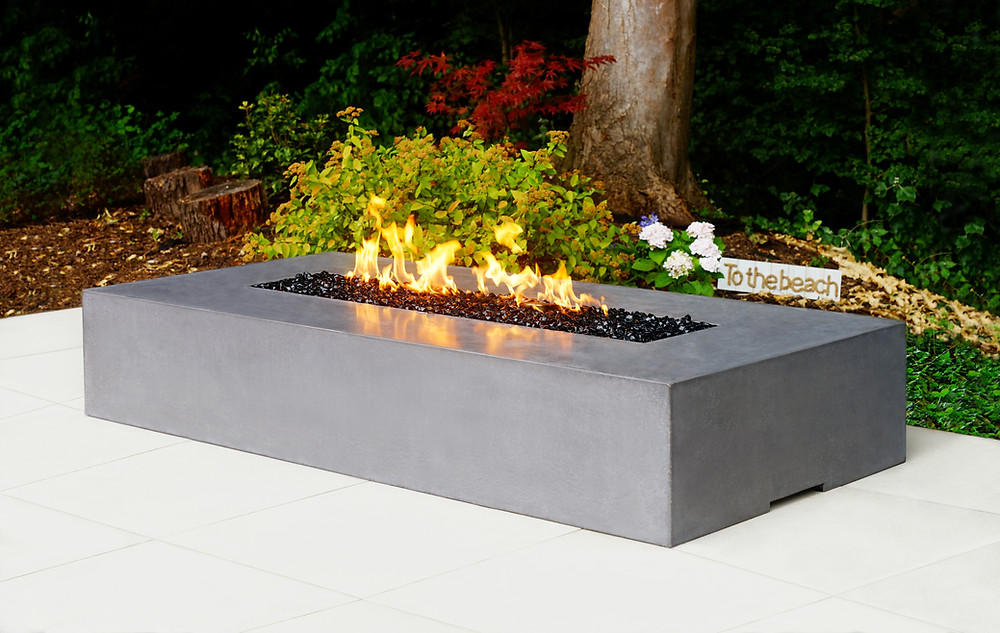 Polished concrete fire pit by Urban Fires