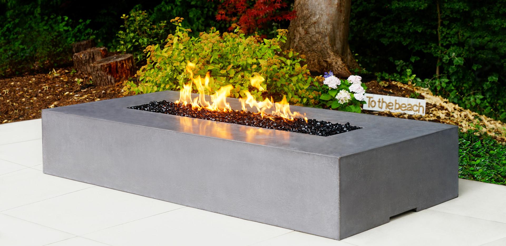 Dakota 2200 polished concrete fire pit - special colour