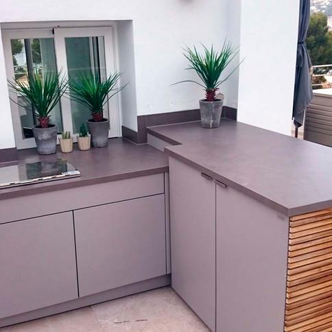 Outdoor kitchen corner unit