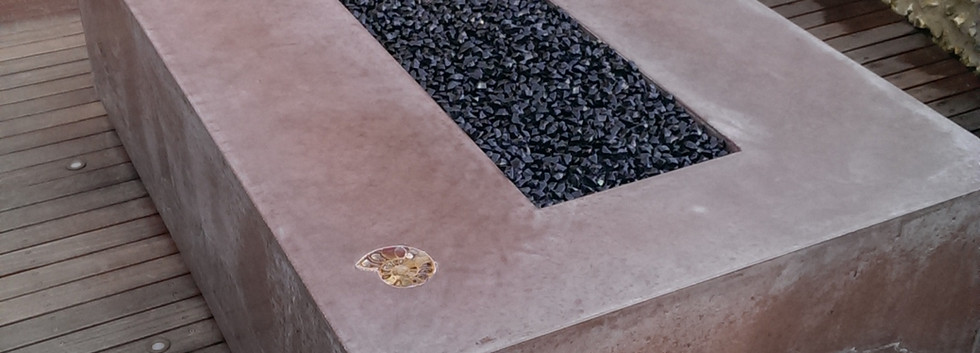 Polished concrete fire pit