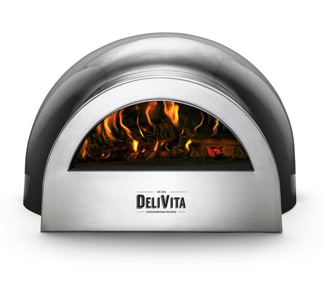 Black pizza oven