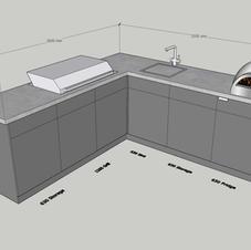 Classic corner with BBQ & sink
