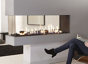 Urban Fires room divider gas fireplace