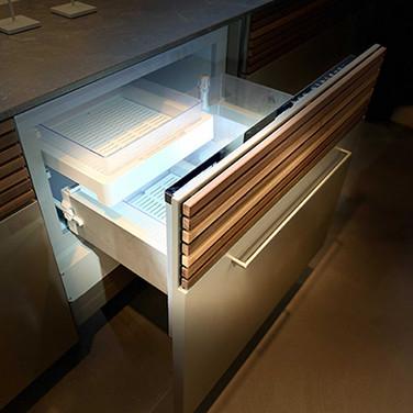 Outdoor cooler drawer, fridge, freezer or wine storage.