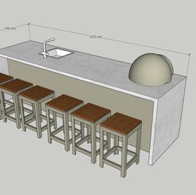 3500 wide outdoor Breakfast Bar