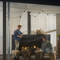 1400 linear outdoor fireplace