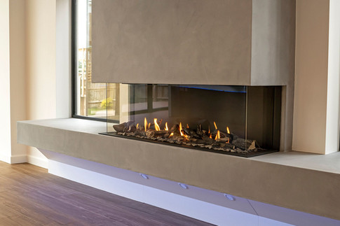 UF1400-3S three-sided gas fireplace