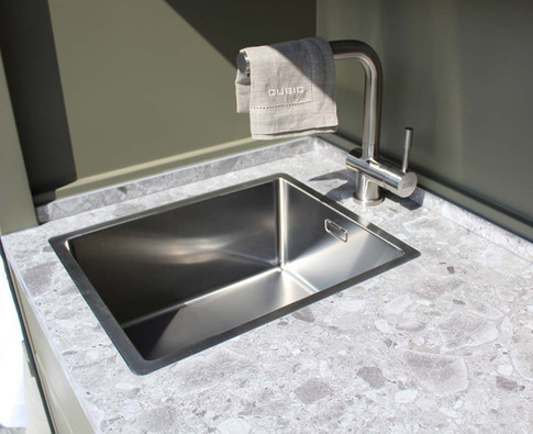 Add a sink and tap to your Cubic outdoor kitchen.
