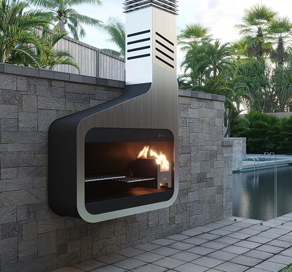 Urban Fires Mode modern woodburning outdoor fireplace
