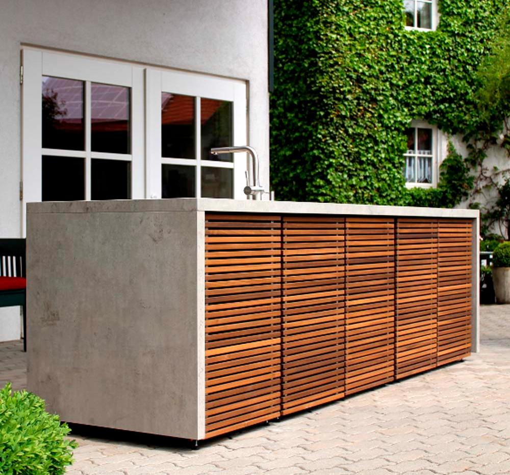 Cubic Outdoor kitchen island