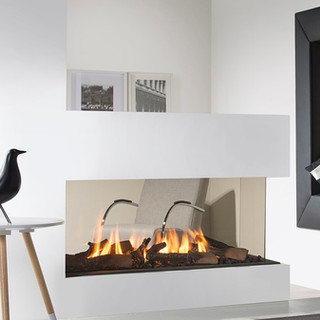UF1000-RD the baby broother to our larger room divider gas fireplaces