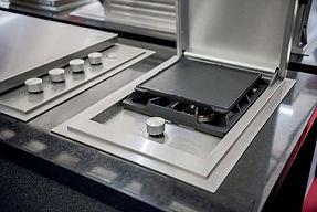 Outdoor kitchen side plate