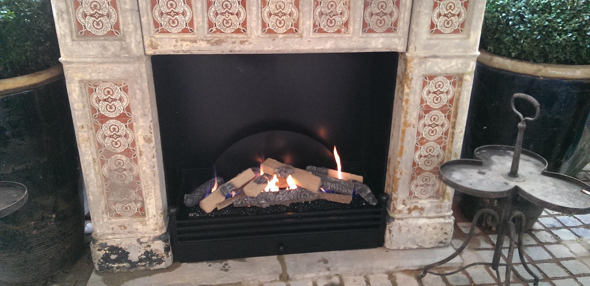 Outdoor fireplace for Cheltenham hotel.