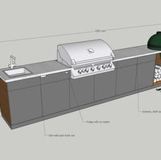 Bespoke Green Egg outdoor kitchen