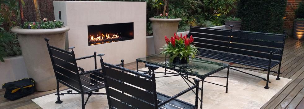 1400 wide bespoke frameless firebox