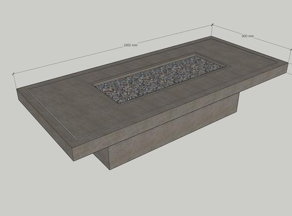 Bespoke Basalt Grey firetable