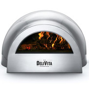 Grey pizza oven