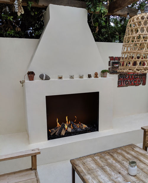 Traditional Outside Gas Fireplace